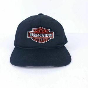 Harley-Davidson Mens Black Logo Snapback Spell Out
